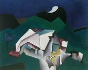 Komposition mit Schwarzwaldhaus